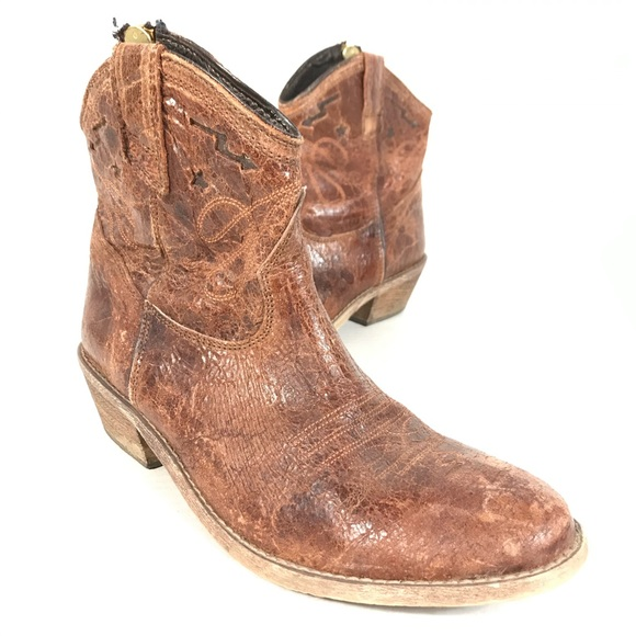 Steve Madden vested western boots leather